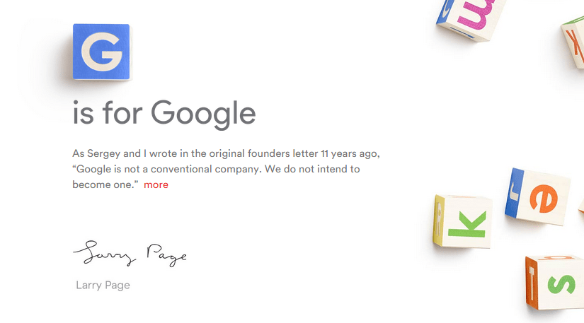 The move of Google in words of its creators